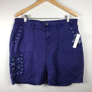 3/$20 Sonoma Embroidered Bermuda Shorts Size 16P